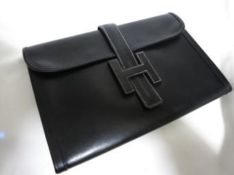 【HERMES】エルメス ジジェ セカンドポーチ ボックスカーフ スレ傷 補修 広島店