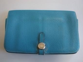 エルメス ドゴン 財布の黒ずみや変色をお直しします!