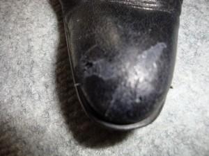 ブラック ロングブーツ スレ傷&染め直し