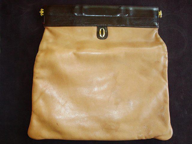 がま口バック(鞄)のカラーチェンジ(色替え)施工